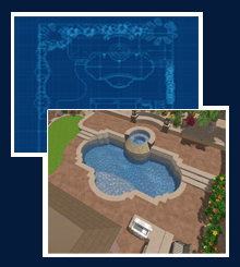 every one of our pool projects starts as a 3d custom pool design when you choose sapphire pool and spa you will have very little question of what your